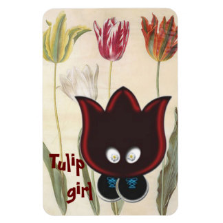 Tulip Girl Flexible Magnets