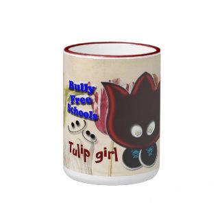 Tulip Girl Wants Bully Free Schools Ringer Mug