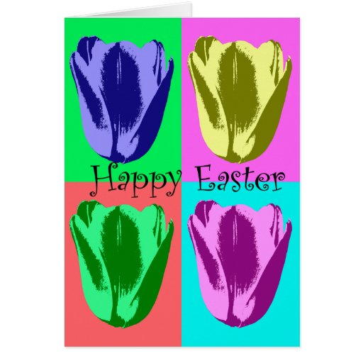 Tulip Happy Easter Card