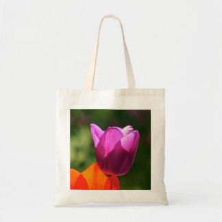 Tulip in bright light tote bag