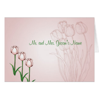 Tulip Informal Notecard