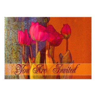 Tulip Invitation