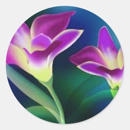 tulip.jpg pegatina redonda