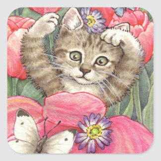 Tulip Kitten stickers