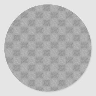 Tulip Lace Book Cover Set (Black And White) Classic Round Sticker