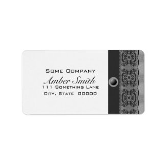 Tulip Lace Book Cover Set (Black And White) Label
