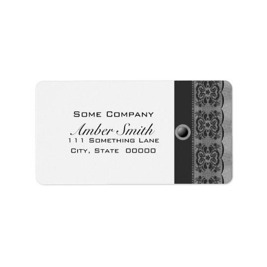 Tulip Lace Book Cover Set (Black And White) Label