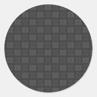 Tulip Laced Ribbon Mix Match (Black And White) Classic Round Sticker