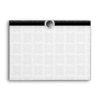 Tulip Laced Ribbon Mix Match (Black And White) Envelope