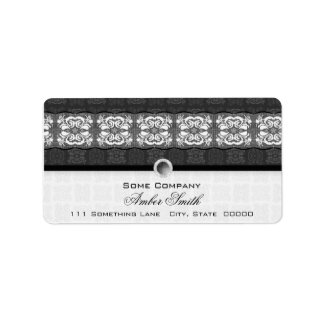 Tulip Laced Ribbon Mix Match (Black And White) Label
