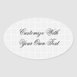Tulip Laced Ribbon Mix Match (Black And White) Oval Sticker