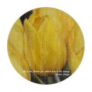 Tulip - Life is the flower Cutting Board