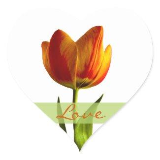 Tulip Love Heart Wedding Sticker Envelope Seals sticker