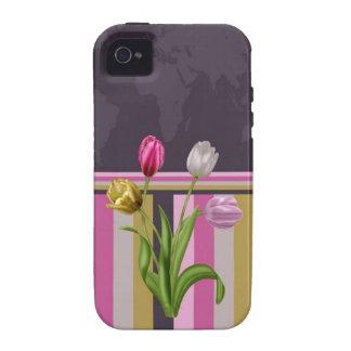 Tulip map iPhone case iPhone 4 Cases