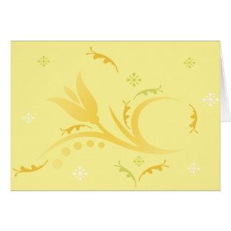 Tulip Mist in Yellow  Card