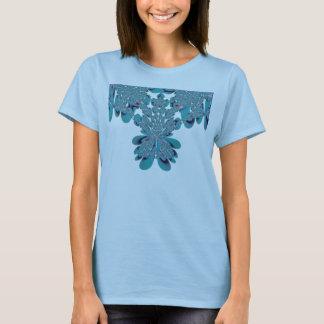 Tulip Mosaic Fractal Digital Photo T-Shirt Womens