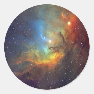 Tulip Nebula Classic Round Sticker