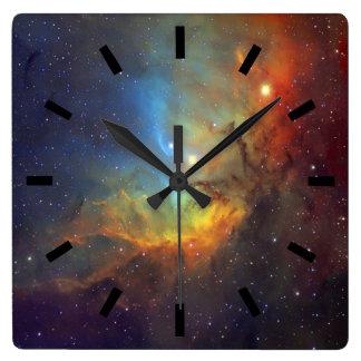 Tulip Nebula Square Wall Clock