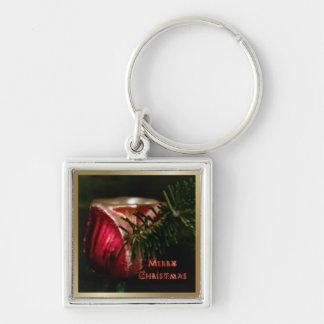 Tulip Ornament Christmas Keychain - Square
