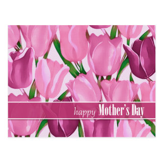 Tulip Painting Customizable Mother's Day Postcards