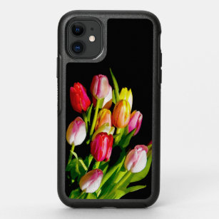 Beautiful Red Abstract Tulip Pattern iPhone 11 case