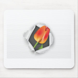tulip-paper-vector mouse pad
