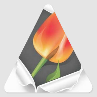 tulip-paper-vector triangle sticker