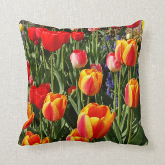 Tulip Patch Throw Pillow