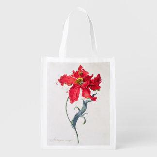 Tulip: Perroquet Rouge Grocery Bag