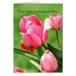Tulip Pink Note Card