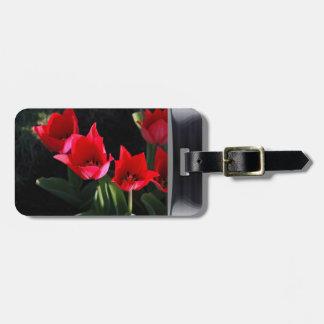 Tulip portrait luggage tags