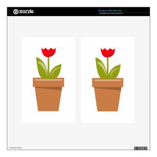 Tulip Pot Skins For Kindle Fire