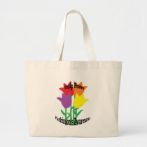 Tulip Power Large Tote Bag