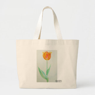 Tulip -Prairie mile series - watercolor design Large Tote Bag