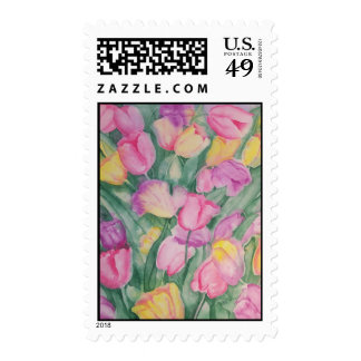 Tulip Profusion Postage Stamp
