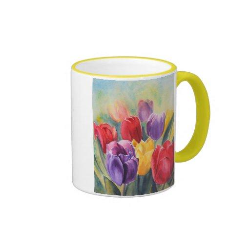 Tulip rainbow coffee mug