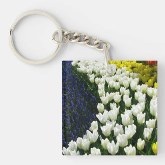 Tulip Rainbow Wave Keychain