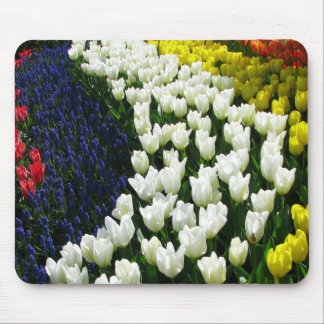 Tulip Rainbow Wave Mouse Pad