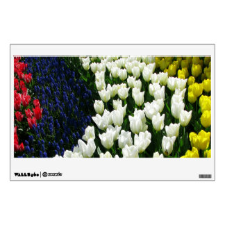 Tulip Rainbow Wave Wall Sticker