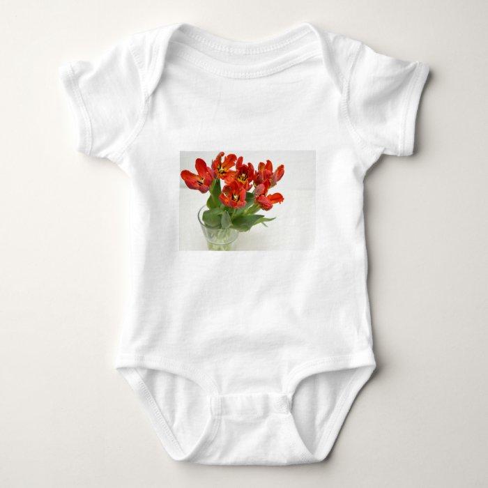 Tulip red baby bodysuit