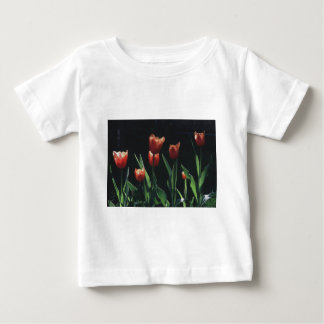 Tulip Red  Flare Baby T-Shirt