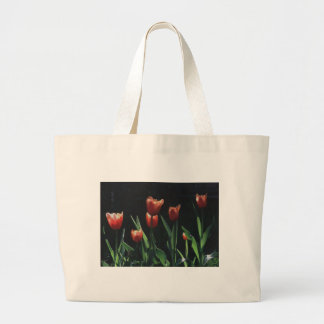Tulip Red  Flare Large Tote Bag