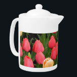 "Tulip (Red & Gold) Teapot<br><div class=""desc"">This lovely tulip photo decorates a charming teapot- teapot comes in two sizes and makes a useful and bright addition to home or office .</div>"