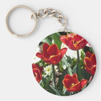 tulip,red keychain