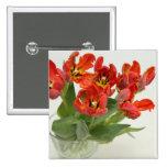 Tulip red pinback button