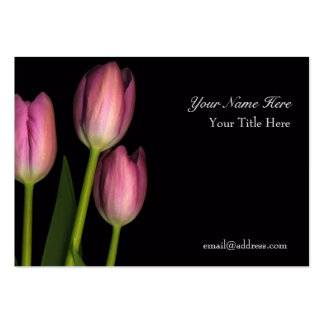 Tulip Reflection Business Card... - Customized Large Business Card