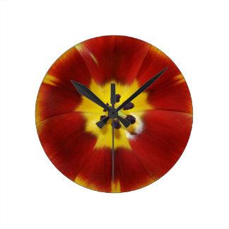 Tulip Round Clock
