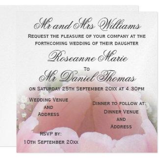 Tulip Silver Metallic Paper Wedding Invitation