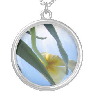Tulip Silver Necklace