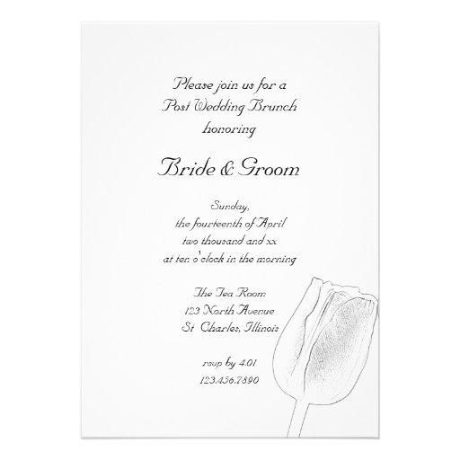 Tulip Sketch Post Wedding Brunch Invitation